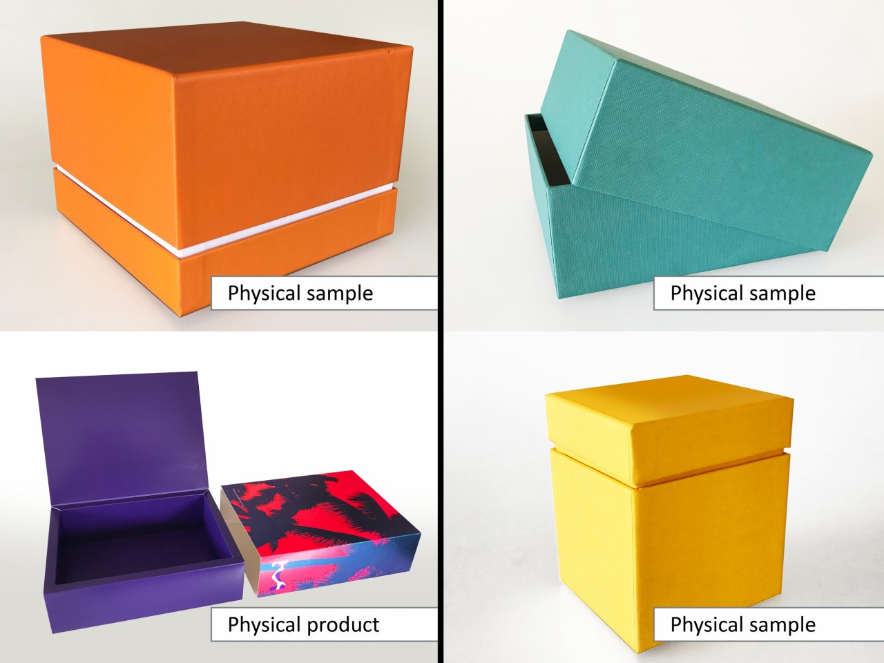 Examples of physical prototype samples
