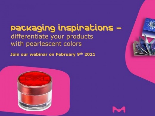 "Join the FREE webinar ""Packaging Inspirations"" Tuesday 9 February 2021, 05:00 PM - 07:00 PM,  Organized by our partner Merck!"